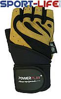 Перчатки PowerPlay с фиксатором и липучкой для ТЯЖЕЛОЙ АТЛЕТИКИ тигр