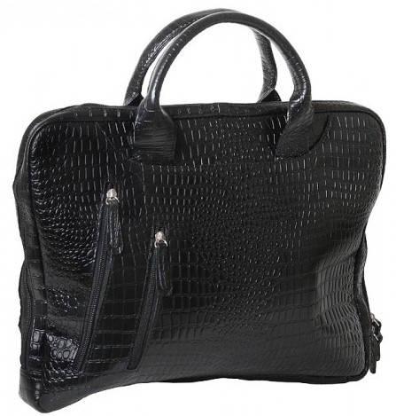 """Восхитительная сумка для ноутбука 15,6"""" Vip Collection 2411A croc черный"""