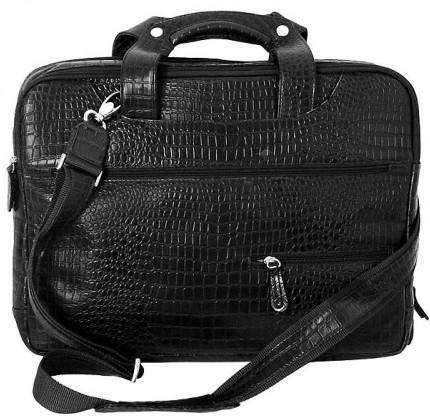 """Потрясающая сумка для ноутбука 15,6"""" Vip Collection 241A croc черный"""