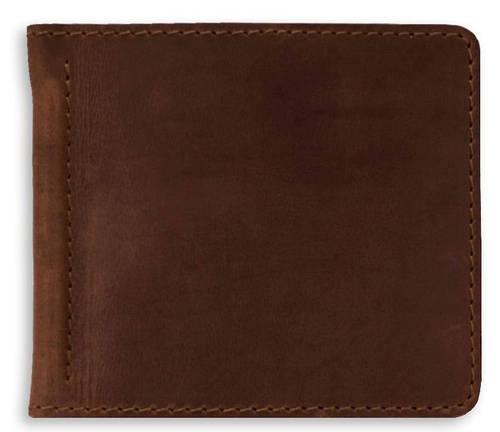 Мужской солидный, кожаный зажим для денег BlankNote BN-PM-1-o орех