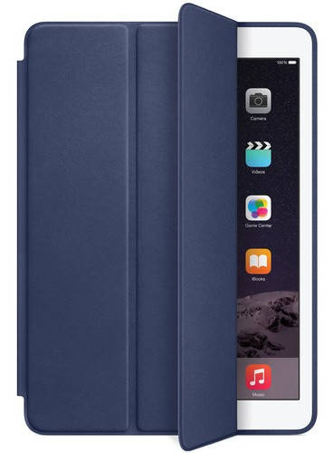 Красивый кожаный чехол-обложка Apple Smart Case для iPad Air 2 (midnight blue) MGTT2ZM/A синий