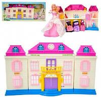 Кукольный домик с куклой 28см и нарядами, светом и музыкой