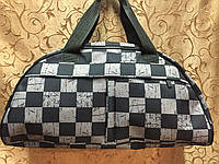 Стильная женская спортивная сумка для фитнеса, черная с серым