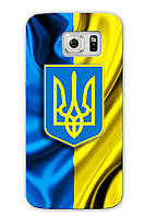 Чехол для Samsung Note 5 (Флаг и герб Украины)
