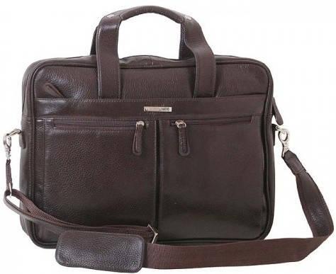 """Прекрасная сумка для ноутбука 15,6"""" Vip Collection 50104B flat коричневый"""