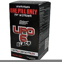 Жиросжигатель  Lipo 6 black Ultra Concentrate (60 black-caps)