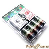 Покерный набор (две колоды карт, сукно, 100 фишек)