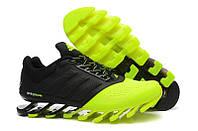 Кроссовки мужские  Adidas Springblade 2 Drive Black Green (адидас, оригинал) черно-зеленые