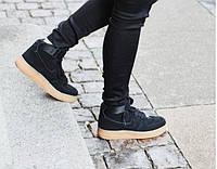 Кроссовки мужские Nike Air Force High Coal Black  (найк форс, оригинал) песочные