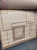 Ковер сизаль, натуральный, безворсовый, прямоугольный, абстракция, 80х1,5