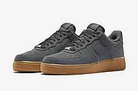 Кроссовки мужские Nike Air Force Low Grey Suede (найк форс, оригинал) песочные