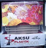 """-Комод пластиковый  """"Цветы"""", фирма AKSU. Производитель Турция."""