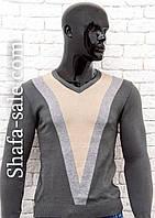 Пуловер  мужской с модным рисунком