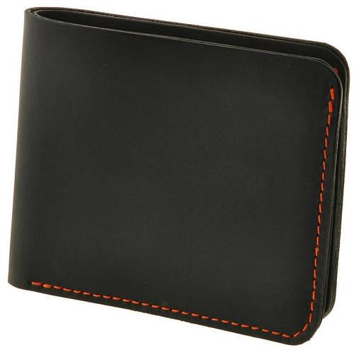 Деловое портмоне из натуральной кожи BlankNote BN-PM-4-1-g-k графит-клубника