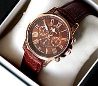 Часы наручные женские Geneva Style коричневые , магазин часов