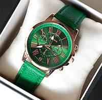 Часы наручные женские Geneva Style зеленые, магазин часов