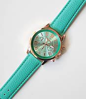 Часы наручные женские Geneva Style мятные, магазин часов