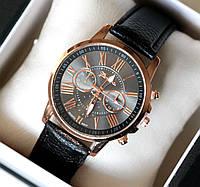 Часы наручные женские Geneva Style черные, магазин часов