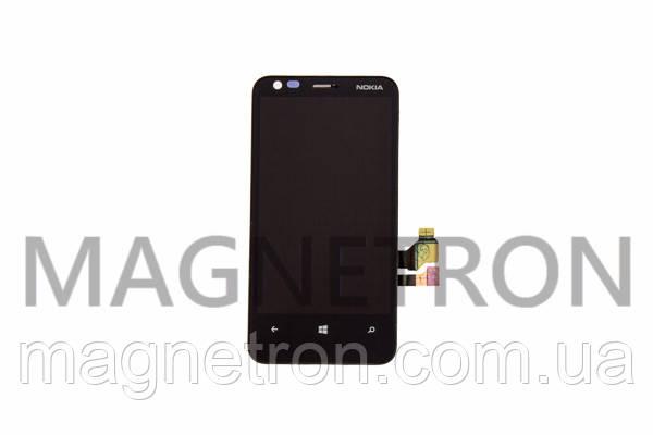 Дисплей с тачскрином и передним корпусом для мобильных телефонов Nokia Lumia 620, фото 2