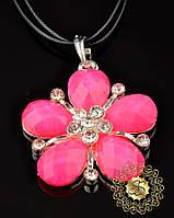 Подвеска Розовый цветочек