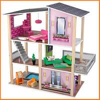 Дом для кукол KidKraft Modern Living Стильный коттедж кукольный дом с мебелью 65822