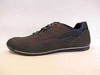 Туфли мужские ECCO кожаные, синие (еко)р.40,42,43,44