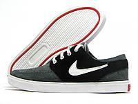 Кеды мужские Nike серые с черным (найк)