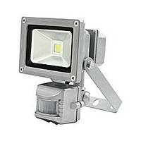 Прожектор светодиодный LED с датчиком движения 10w 6500K IP44 LEMANSO