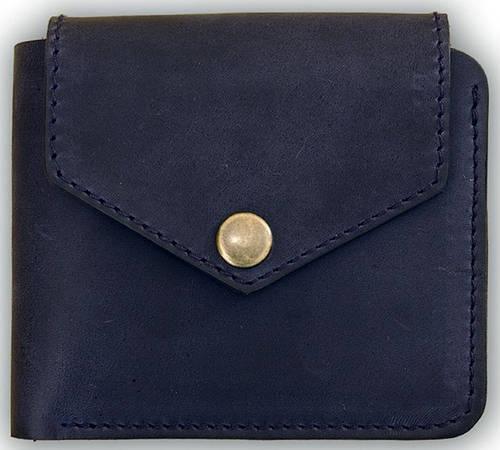 Мужское портмоне на кнопке BlankNote BN-PM-4-2-nn-li ночное небо-лимон