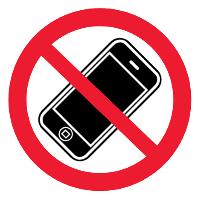"""Знак """"пользоваться мобильными телефонами запрещено"""""""