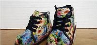 Ботинки детские с цветочным принтом