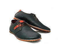 Туфли мужские комфортные Konors кожа синие