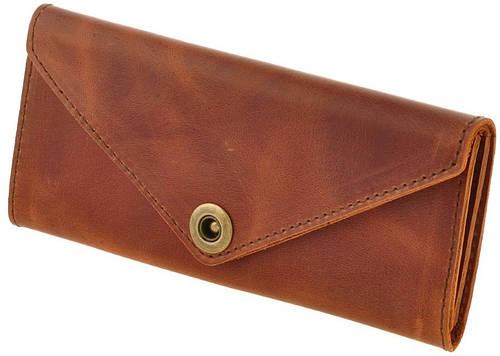 Прочный кожаный кошелек BlankNote BN-W-1-ko коньяк
