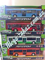 """Инерционная игрушка """"Городской транспорт"""" со свет/звук: автобус/троллейбус, 4 вида"""