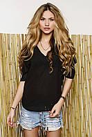 Женская шифоновая блузка черного цвета