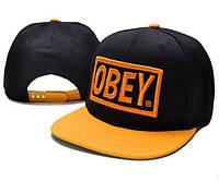 Кепка Obey Snapback Black-Orange