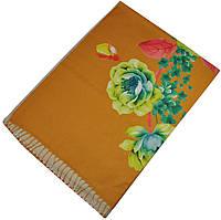Женский шарф 017419 розы желтый