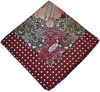 Женский платок горох бордовый
