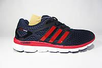 Мужские кроссовки Adidas ClimaCool, сетка, синие с красным, Р. 41