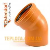 Канализация OSTENDORF - Угол д.110мм - 45°(нар)
