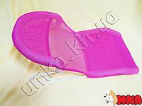 Подставка-горка для купания новорожденных розовая