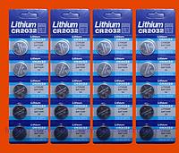 CR2032 литиевая батарейка, батарейки для весов,  для часов, сигнализации, эхолотов и фонариков