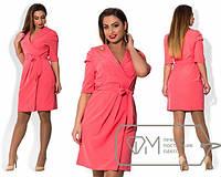 Красивое платье большого размера на запах (в расцветках) t-1515404