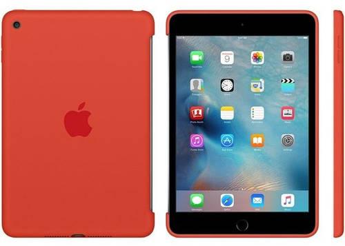 Чехол силиконовый Apple iPad mini 4 с дисплеем 7,9 дюйма (Orange) MLD42ZM/A