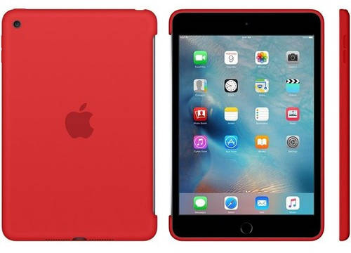 Силиконовый чехол Apple iPad mini 4 с дисплеем 7,85 дюйма (Red) MKLN2ZM/A