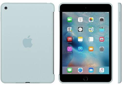 Надежный чехол силиконовый Apple iPad mini 4 с дисплеем 7,85 дюйма (Turquoise) MLD72ZM/A