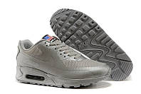 Кроссовки мужские Nike Air Max 90 Hyperfuse Ash Grey USA (найк аир макс 90, оригинал)