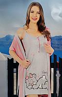 Женский комплект халат с ночной рубашкой SIS-87
