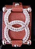 Кожаний женский браслет