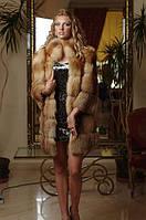 Шуба жилет из  лисы, рукава съемные на молнии spliced fox fur coat&vest